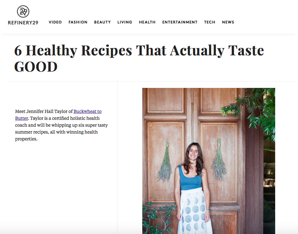 refinery29 holistic health coach recipes