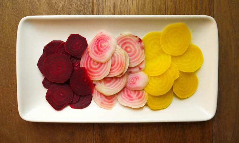 beet slices cooked