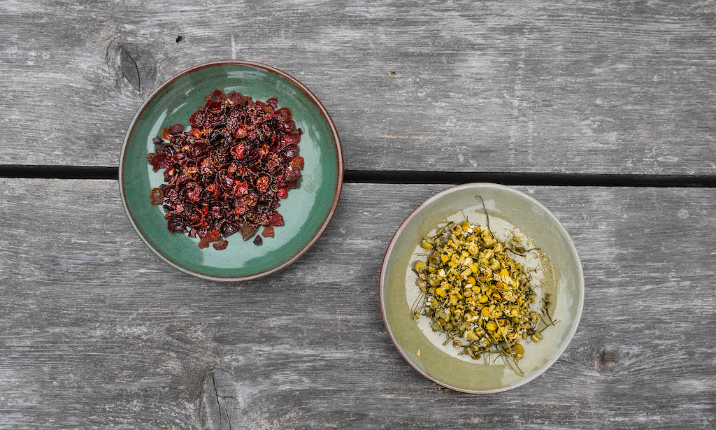 rose hips and chamomile