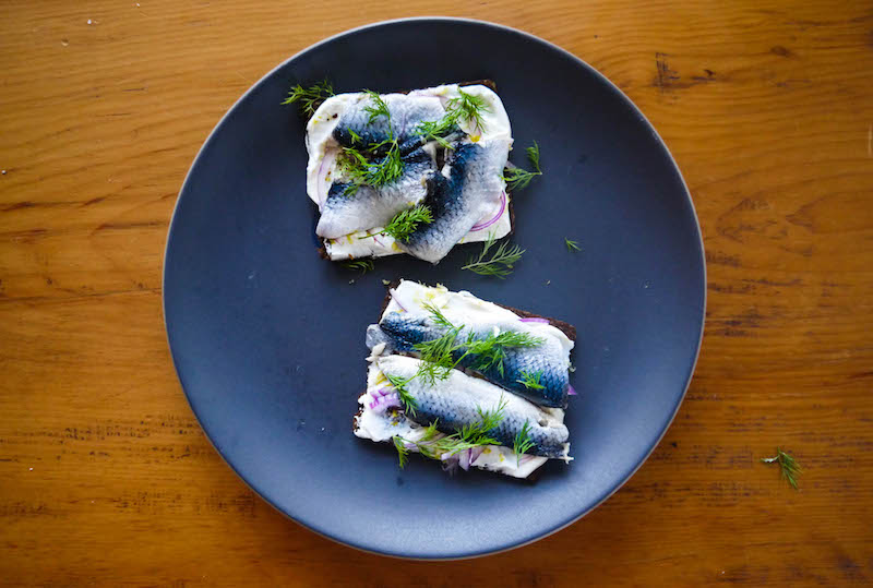 pickled herring sandwich