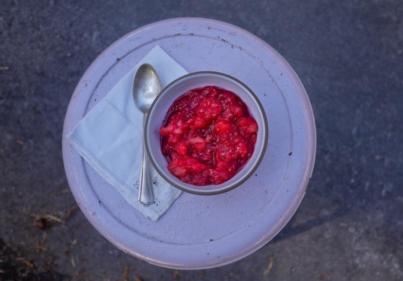 Rasberry apple sauce