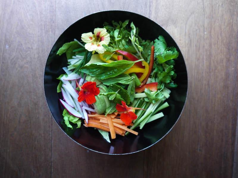spring roll salad veg bowl2