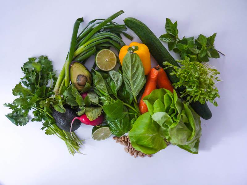 spring roll salad veg2