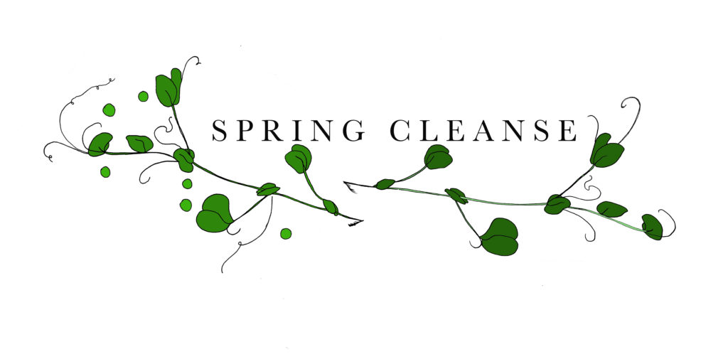 spring cleanse pea shoots