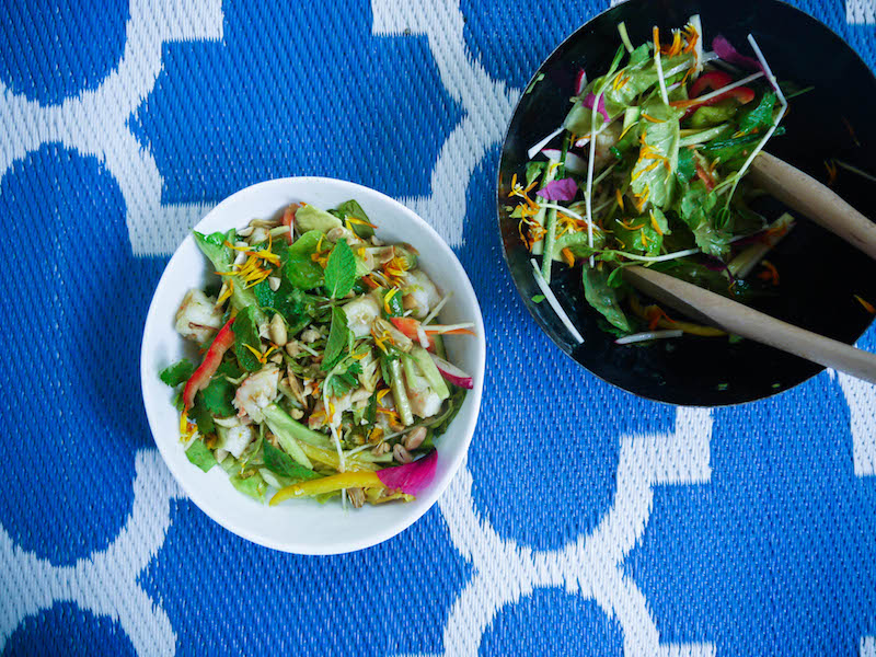 spring roll salad tossed2